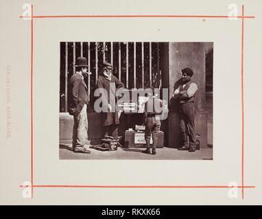 Die dramatischen Shoe-Black - 1877 - John Thomson Schottischen, 1837 - 1921 - Artist: John Thomson, Herkunft: Schottland, Datum: 1877 Medium: Woodburytype, von - Stockfoto