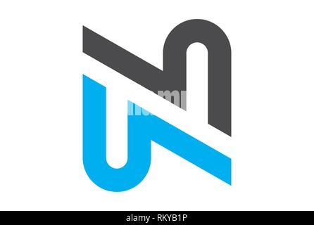 Buchstabe N logo Symbol Vektor vektor Konzept flache Bauweise - Stockfoto