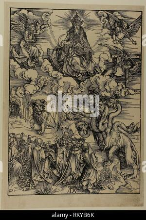 Das Tier mit zwei Hörnern wie ein Lamm aus der Apokalypse - C. 1496 - 98, veröffentlicht 1511 - Albrecht Dürer Deutsch, 1471-1528 - Künstler: Albrecht Dürer, - Stockfoto