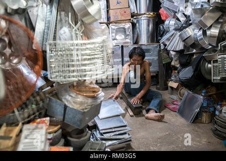 Singkawang Markt, West Kalimantan, Indonesien. - Stockfoto