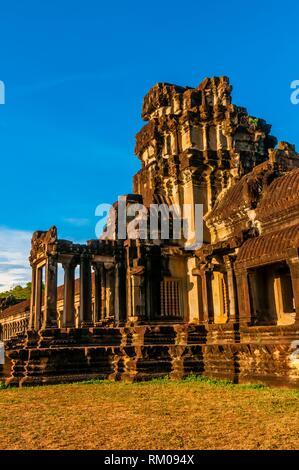 Angkor Wat, das größte religiöse Monument der Welt (bedeutet, Stadt, die ist ein Tempel); Kambodscha. - Stockfoto