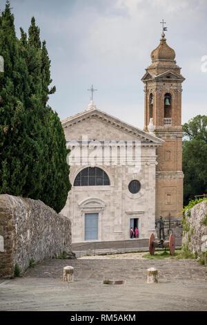 Chiesa della Madonna del Soccorso Römisch-katholischen Co-Kathedrale, Montalcino, Toskana, Italien - Stockfoto