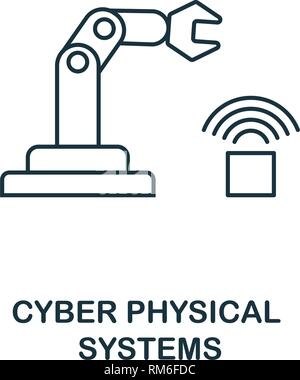 Cyber physische Systeme Symbol. Thin line style Industrie 4.0 icons Collection. UI und UX. Pixel Perfect cyber physische Systeme Symbol für Web Design, Apps - Stockfoto