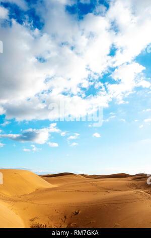 Einen herrlichen Blick auf die Dünen von Maspalomas auf den Kanarischen Inseln, Spanien - Stockfoto