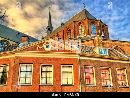 Die pieterskerk, einer spätgotischen Kirche in Leiden, Niederlande - Stockfoto