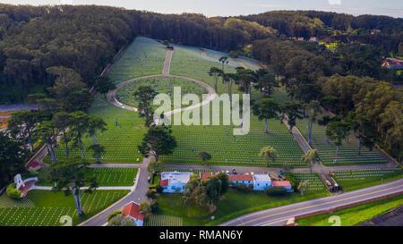 San Francisco Nationalfriedhof, United States Military Cemetery, San Francisco, CA, USA - Stockfoto