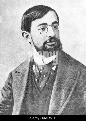 Henri de Toulouse-Lautrec, französischer Maler und Grafiker (b. 24.11.1864, d. 09.09.1901). Er nahm seine Motive aus dem Nachtleben von Paris Montmartre. - Stockfoto