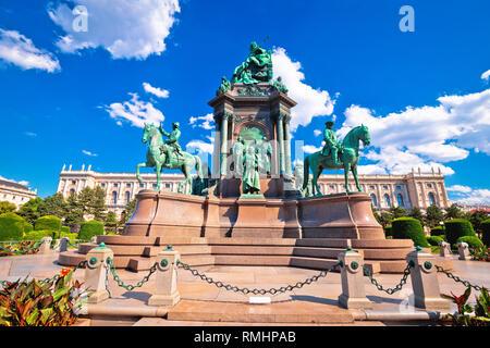 Maria Theresien Platz in Wien Architektur und Blick in die Natur, der Hauptstadt von Österreich - Stockfoto