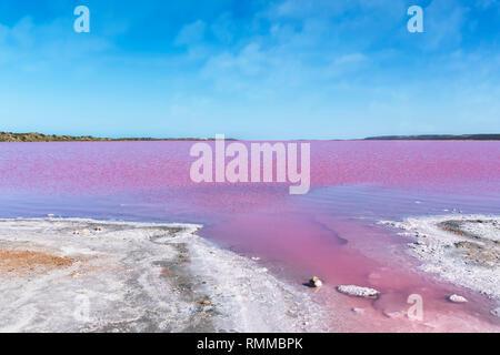 Hutt Lagoon, Port Gregory, Western Australia, Australien - Stockfoto