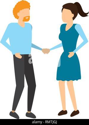 Mann und Frau, die Hand in Hand - Stockfoto