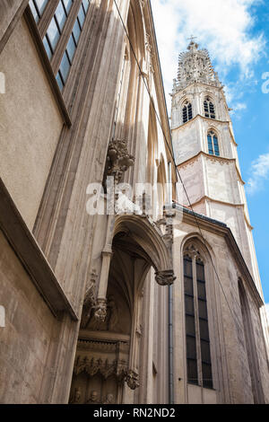 Gotische Kirche Maria am Ufer in Wien geweihten in 1414 - Stockfoto