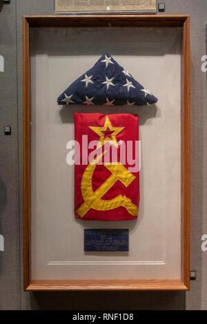 "Gemeinsame Überprüfung Experiment (Mai 1988) ""Kearsarge' gerahmt Flagge, Nevada, United States. - Stockfoto"