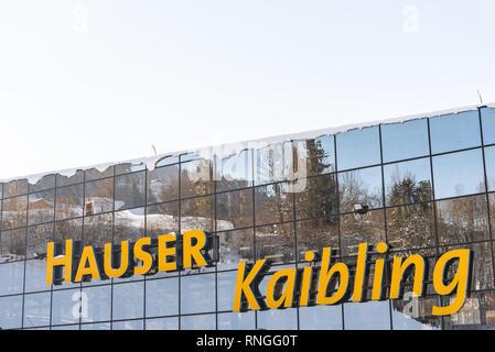 Skigebiet Hauser Kaibling in Österreich Top Skigebiete: 44 Lifte, 123 km Pisten, Ski Österreich, Alpen, Ski Amade - Stockfoto