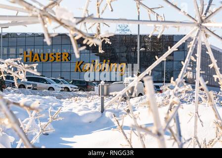 Skigebiet Hauser Kaibling - einer von Österreichs Top Skigebiete 44 Liftanlagen 123 km Pisten, Parkplatz, Schladminger miteinander 4 Berge - Stockfoto
