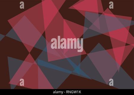 Zusammenfassung Hintergrund Muster mit transparenten Dreieck Formen in roten und blauen Farben. Moderne, zeitgenössische vector Art. - Stockfoto