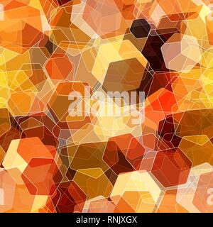 Nahtlose überlappende bunte Hexagon, abstrakten Hintergrund. - Stockfoto