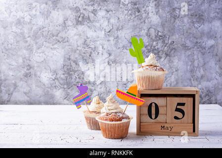 Cupcakes für Feiern Mexikanische party Fiesta - Stockfoto