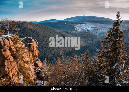 Rabenklippe bei des Nationalparks Harz, Deutschland - Stockfoto