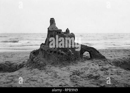 Italien, Lido di Venezia, Sand Castle, 1950 - Stockfoto