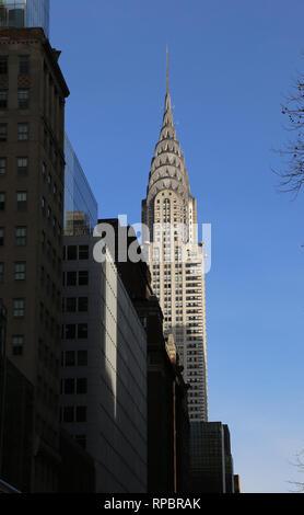 Usa. New York City. Chrysler Building. Art Déco. Midtown Manhattan. Architec, William Van Alen (1883-1954). - Stockfoto