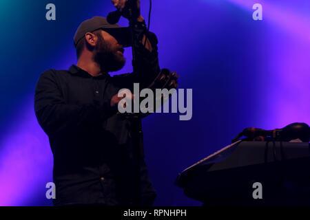 Der schwarze Engel führen Sie im Konzert an Primavera Sound 2017 Festival - Stockfoto