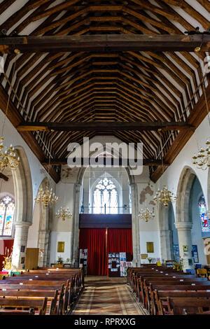 Die Kirche von St George, High Street, Wrotham, Kent Stockfoto