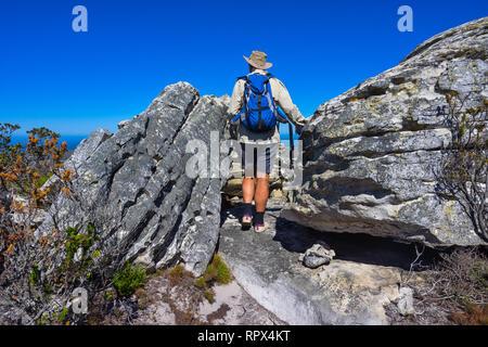 Menschen wandern am Kap der Guten Hoffnung Wanderweg, Western Cape, Südafrika - Stockfoto