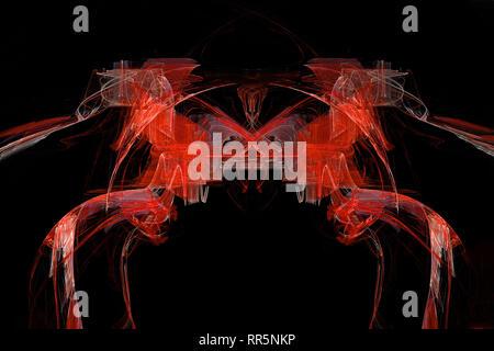 Die roten Pferde abstrakte künstlerische Fraktale - Stockfoto