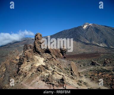 Kanarischen Inseln. Landschaft. Mount Teide und Las Canadas. Teneriffa. - Stockfoto
