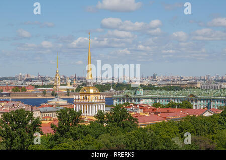 SAINT-Petersburg, Russland, 30. MAI 2018: schöne Stadtbild Blick von der St. Isaak Kathedrale - Stockfoto