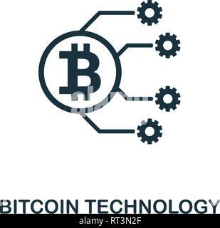 Bitcoin Technologie Symbol. Kreative element Design von fintech Technologie icons Collection. Pixel Perfect Bitcoin Technologie Symbol für Web Design, Apps - Stockfoto