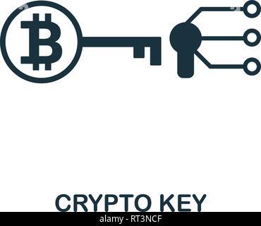 Crypto Key Symbol. Kreative element Design von fintech Technologie icons Collection. Pixel Perfect Crypto Key Symbol für Web Design, Anwendungen, Software, drucken - Stockfoto
