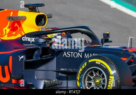 Circuit de Barcelona-Catalunya Spanien, 18.2.2019, Motorsport: Formel 1 Winter Prüfung - - - Max Verstappen (NED), Red Bull RB 15.