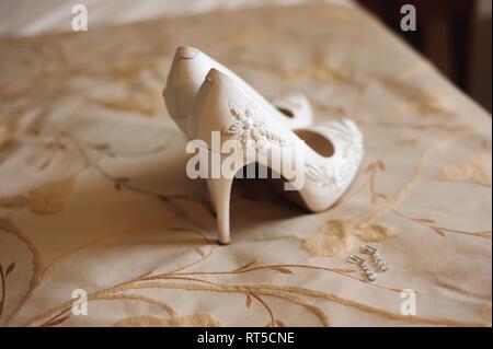 Braut Hochzeit - Hochzeit Schuhe als backgrond - Stockfoto