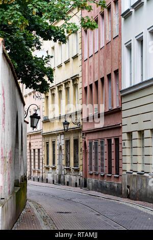Straße in der Altstadt von Warschau. - Stockfoto