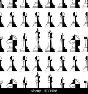 Nahtlose Muster der abstrakte Schachfiguren - Stockfoto