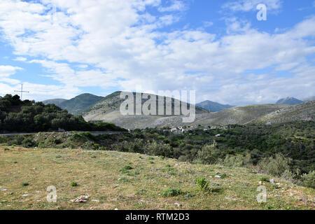Süden Albaniens bergen. Albanische Alpen Sommer Landschaft. - Stockfoto
