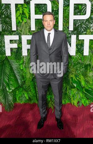 New York, NY - 3. März 2019: Ben Affleck besucht Netflix Triple Frontier Weltpremiere auf Jazz am Lincoln Center Credit: Lev radin/Alamy leben Nachrichten - Stockfoto