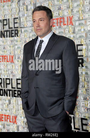 "NEW YORK, NY - 3. März: Ben Affleck besucht die Weltpremiere für ""Triple Frontier' bei Jazz im Lincoln Center am 3. März 2019 in New York City. Quelle: John Palmer/MediaPunch - Stockfoto"