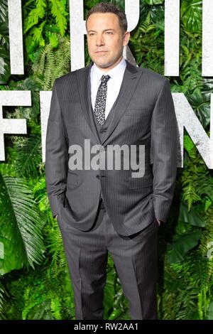 """New York, New York, USA. 3. März, 2019. Schauspieler Ben Affleck besucht die Weltpremiere von Netflix """"Triple Frontier"""" bei Jazz at Lincoln Center in New York City am 3. März 2019. Quelle: Jeremy Burke/Alamy leben Nachrichten - Stockfoto"""