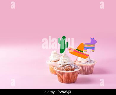 Cupcakes für Feiern mexikanische Fiesta oder Cinco de Mayo - Stockfoto