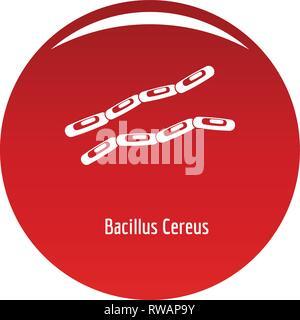 Bacillus cereus-Symbol. Einfache Abbildung von Bacillus cereus Vektor Icon für das Design rot - Stockfoto