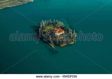 Wunderschöne Insel Visovac, Nationalpark Krka - Stockfoto