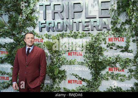 """Madrid, Madrid, Spanien. 6 Mär, 2019. Ben Affleck besucht """"Triple Frontier' Premiere bei Callao Kino am 6. März 2019 in Madrid, Spanien Credit: Jack Abuin/ZUMA Draht/Alamy leben Nachrichten - Stockfoto"""