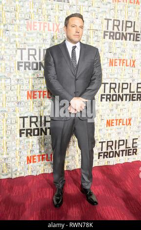 "NEW YORK, NY - 03. März: Ben Affleck besucht die ""Triple Frontier' Weltpremiere auf Jazz am Lincoln Center am 03 Maerz, 2019 in New York City. - Stockfoto"