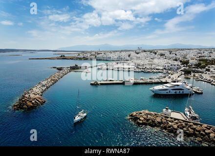 Reisen Griechenland: malerische Dorf Naoussa, Paros, Kykladen, Griechenland - Stockfoto