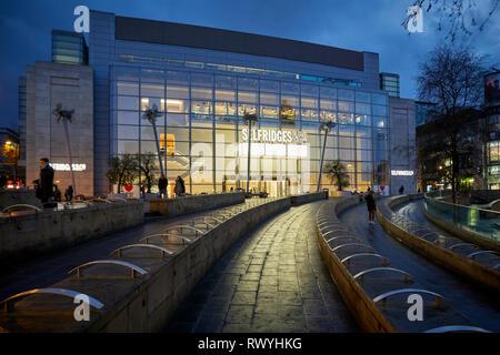 Selfridges&Co auf Exchange Square Manchester City Centre - Stockfoto
