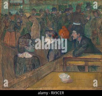 Moulin de la Galette. Henri de Toulouse-Lautrec; Französisch, 1864-1901. Datum: 1889. Abmessungen: 35 7/8 x 39 5/8 in. (88,5 × 101,3 cm). Öl auf Leinwand. Herkunft: Frankreich. Museum: Das Chicago Art Institute. - Stockfoto
