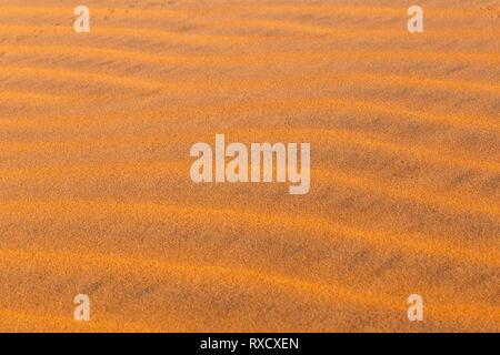 Dune Wellen in der Wüste Sahara, Wave von Sand Textur - Stockfoto