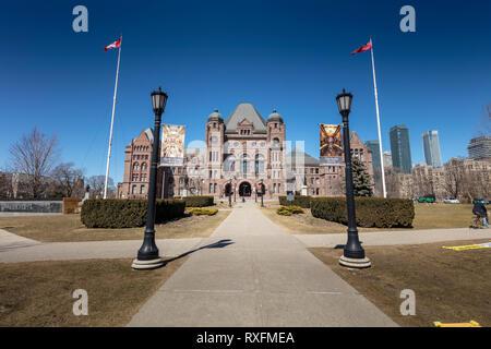 Die Gesetzgebende Versammlung von Ontario an der Queen's Park in Toronto, Ontario, Kanada - Stockfoto